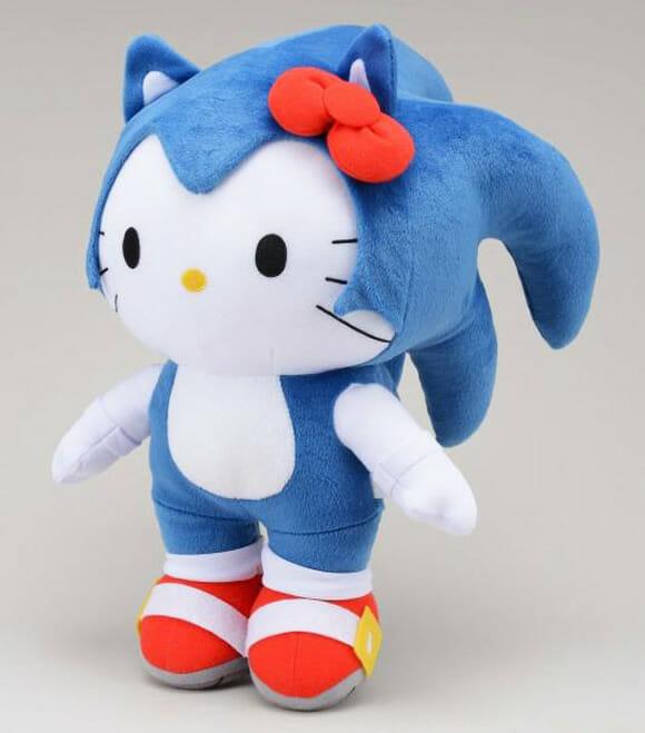 Hello Kitty Hedgehog - Pelúcia que mistura Hello Kitty e Sonic será lançada no Japão