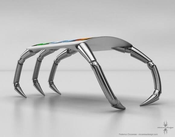 """sPider iPhone: Designer reinventa o iPhone com um design bizarro em forma de """"Aranha"""""""