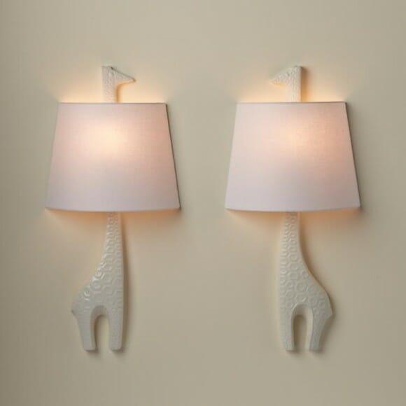 Luminárias em forma de animais