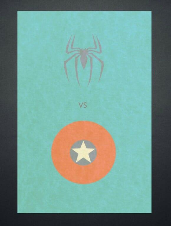 """Posters minimalistas de """"rivais"""" que adoramos"""