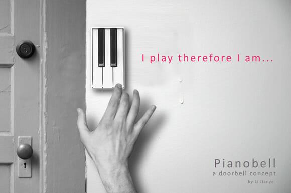Campainha feita com teclas de piano permite que visitas anunciem sua chegada com classe