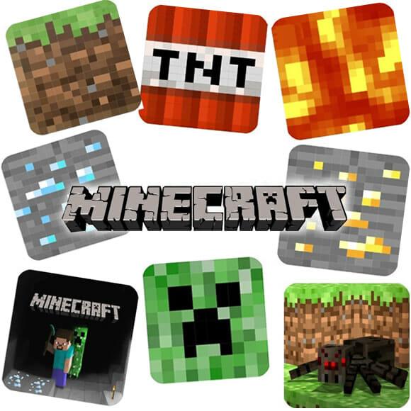 Kit de porta copos Minecraft vem com elementos e cenas do jogo