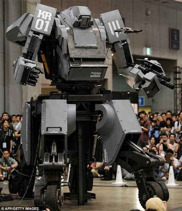 Japoneses inventam Robô de guerra com cockpit pilotado por Humanos ...