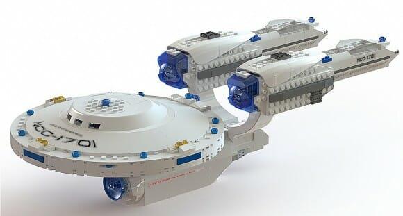 U.S.S. Enterprise da linha KRE-O Star Trek - Clique para ampliar!