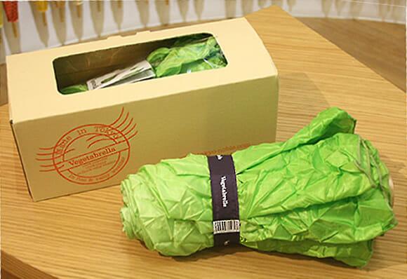 Vegetabrella - Um guarda-chuva em forma de... Alface! :O