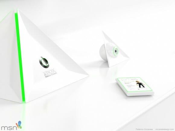 X-Box 720 conceito tem design futurista em forma de Pirâmide. Wow!!!