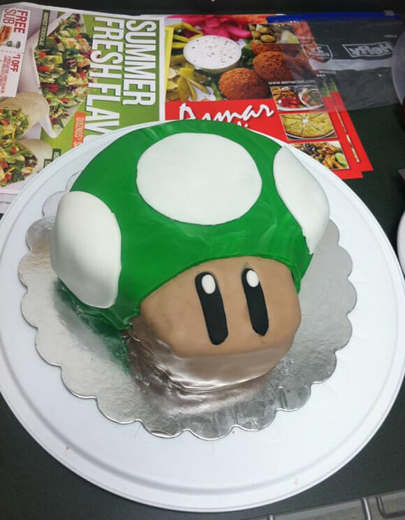 1-UP Cake: Bolo do 1-UP do Super Mario o/