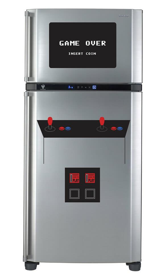 Adesivo deixa sua geladeira com cara de máquina de fliperama