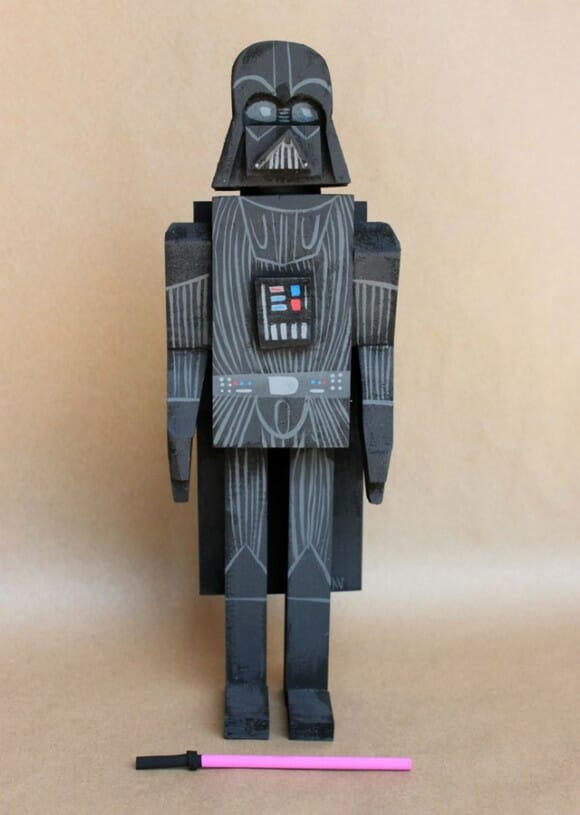 Action Figures do Star Wars de madeira