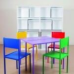 Conjunto criativo de mesas e cadeiras economiza espaço e deixa sua casa com a cara do Google! (vídeo)