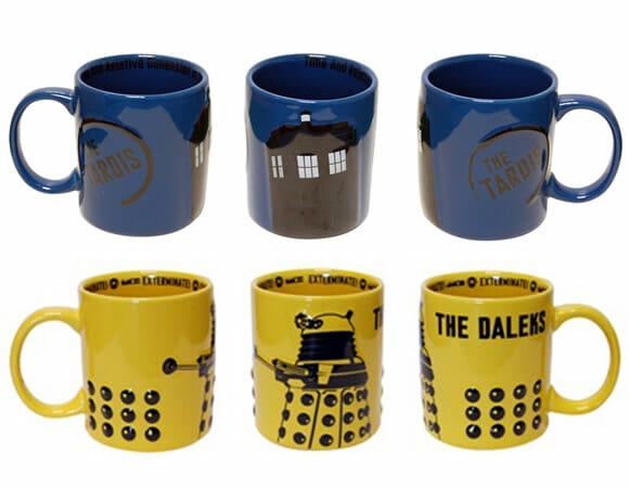 Canecas Tardis e Dalek