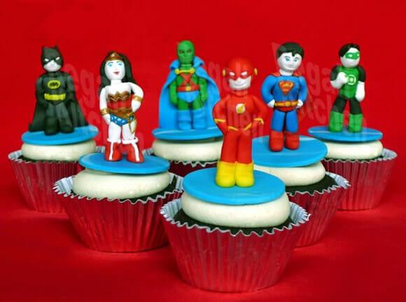 FOTOFUN - Cupcakes Avengers e Liga da Justiça