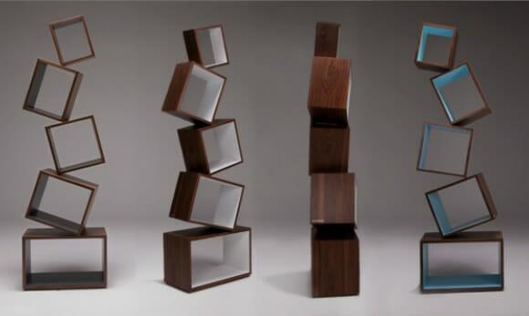 Estante de livros Equilibrium dispensa os porta-livros de uma vez por todas!