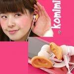 Fones de ouvido divertidos em forma de orelhas