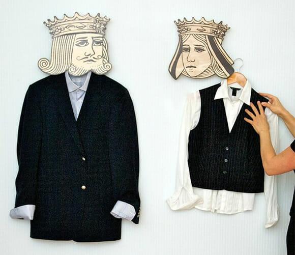 Cabideiros King & Queen - Direto das cartas de baralho para a sua casa!