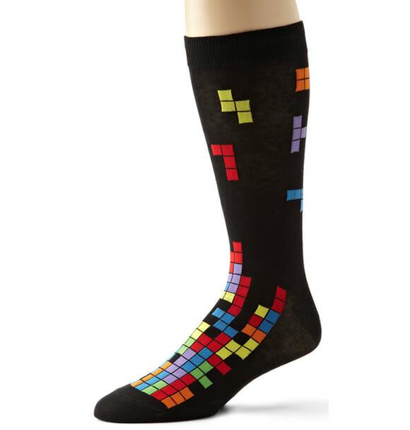 Moda geek: Meias Tetris