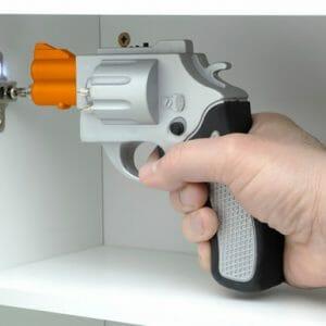 Bang! Parafusadeira em forma de revólver