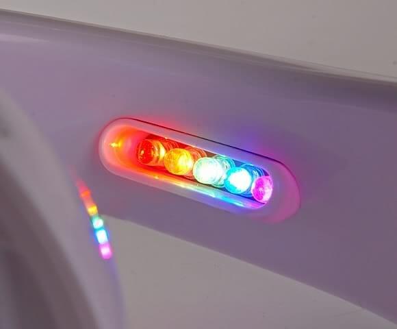 Aparelho eletrônico projeta um arco-íris na parede, mas não vem com pote de ouro