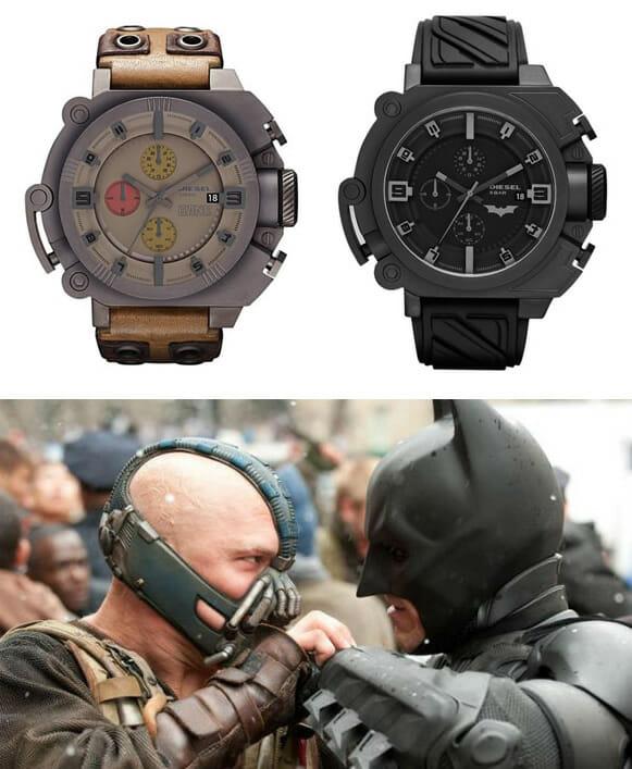 Diesel lança relógios de pulso inspirados nos personagens Batman e Bane do filme O Cavaleiro das Trevas Ressurge