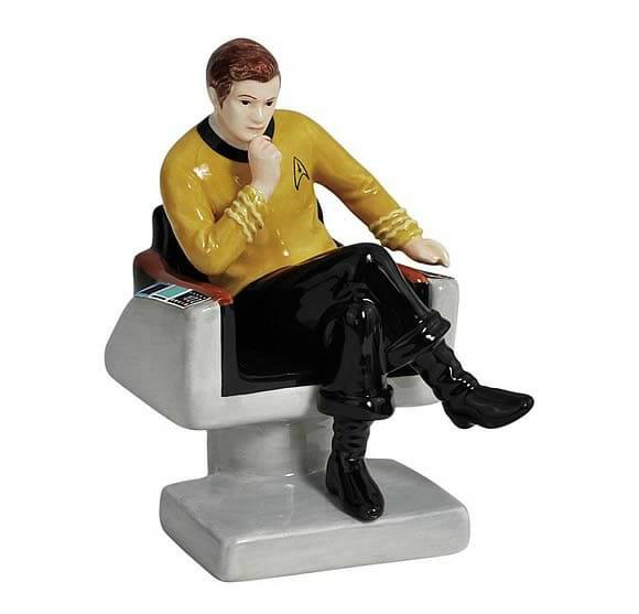 Saleiro e pimenteiro do Capitão Kirk em sua Cadeira de Comando