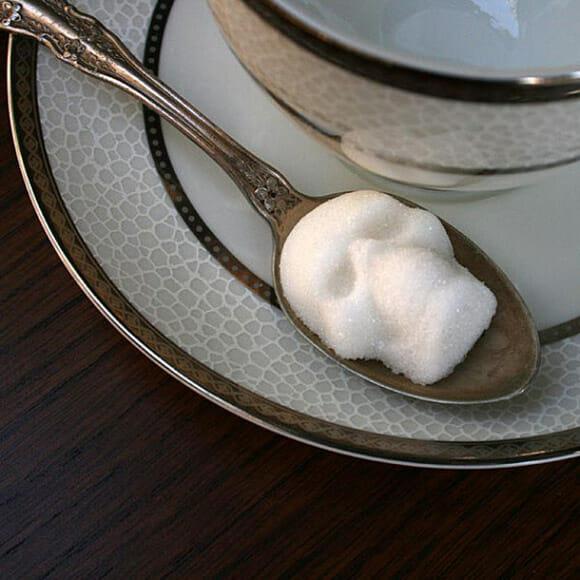 Tabletes de açúcar em forma de caveiras