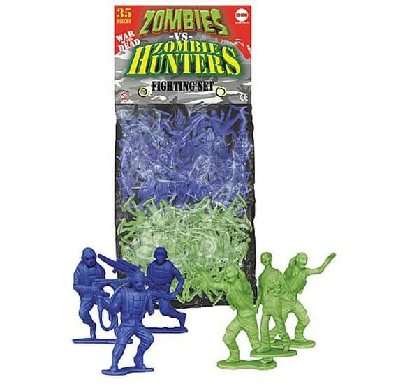 Nova versão de soldados de plástico verde: Agora com Zumbis vs Caçadores de Zumbis!