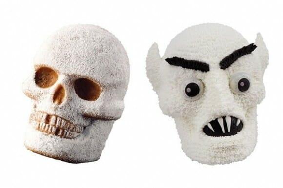 Que tal uns bolos bizarros em formato de crânio?
