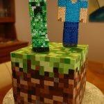 Bolo perfeito do Minecraft