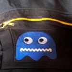 Bolsa do Pac-Man com estampa estilo 8-bits