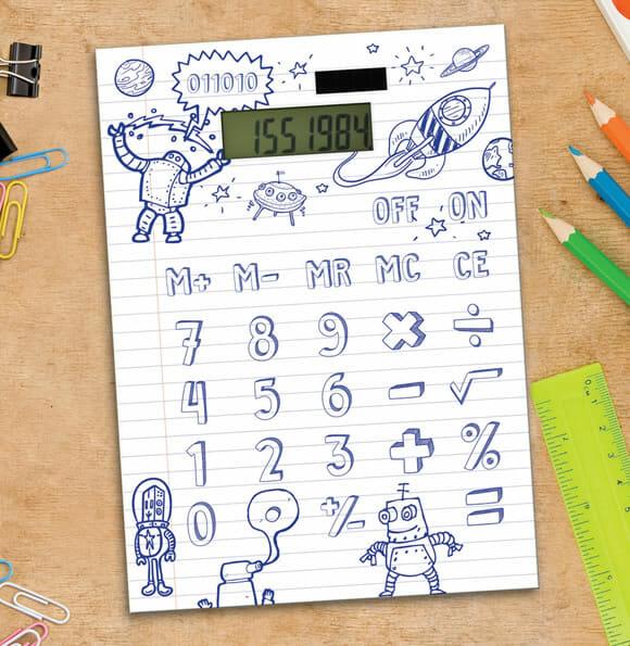 Calculadora de papel permite que você mesmo desenhe os números nela