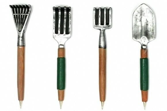 Canetas imitam ferramentas de jardinagem