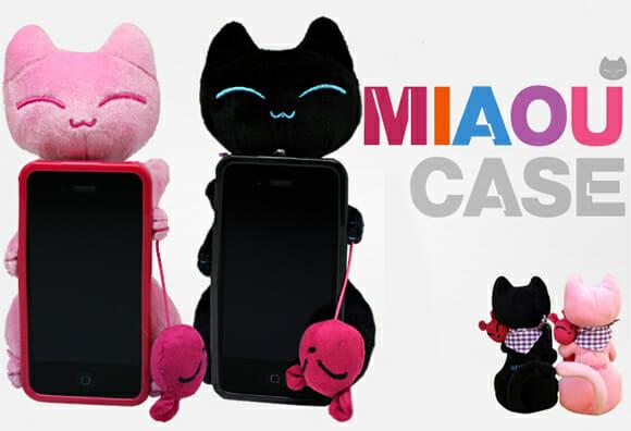 Capa transforma seu iPhone em um gato de pelúcia