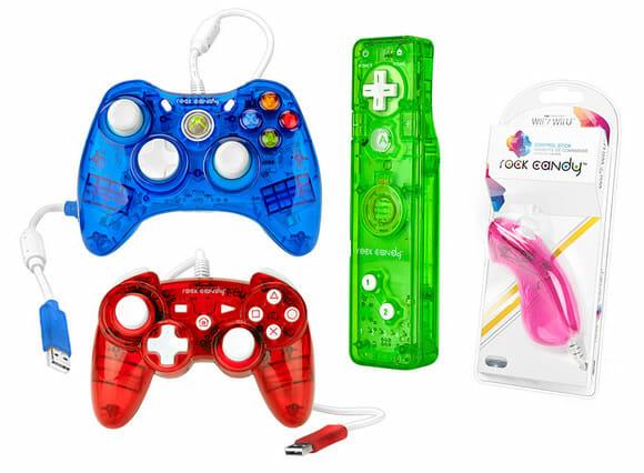 Nova linha de controles super coloridos Rock Candy para PS3, Xbox 360 e Nintendo Wii