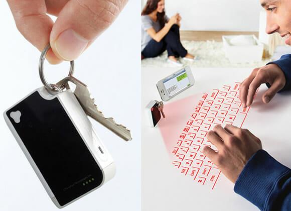 Mini teclado virtual a laser é perfeito para os que não gostam dos teclados de smartphones