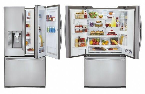 Nova geladeira da LG Door-in-Door poupa espaço com portas de dois estágios