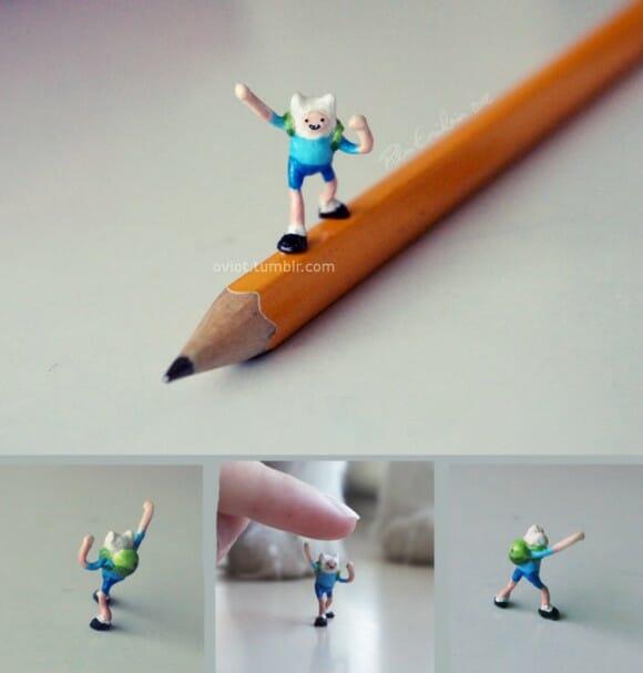 É Hora de Aventura com as incríveis miniaturas de Adventure Time!
