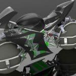 Estudantes constroem moto futurista equipada com esferas no lugar de rodas