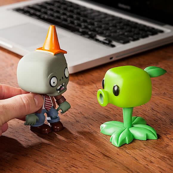Chegou a nova coleção de figures do jogo Plants vs. Zombies com personagens super simpáticos!