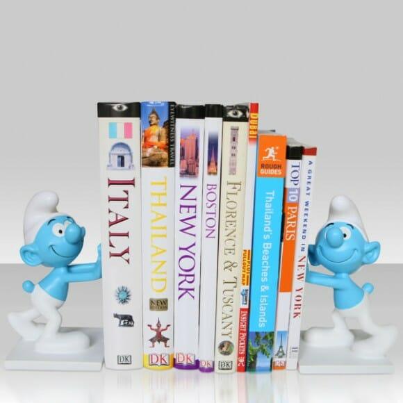 Porta-livros dos Smurfs