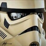 Reflexos de Star Wars - Pinturas mostram cenas da série refletidas nos olhos e capacetes dos personagens
