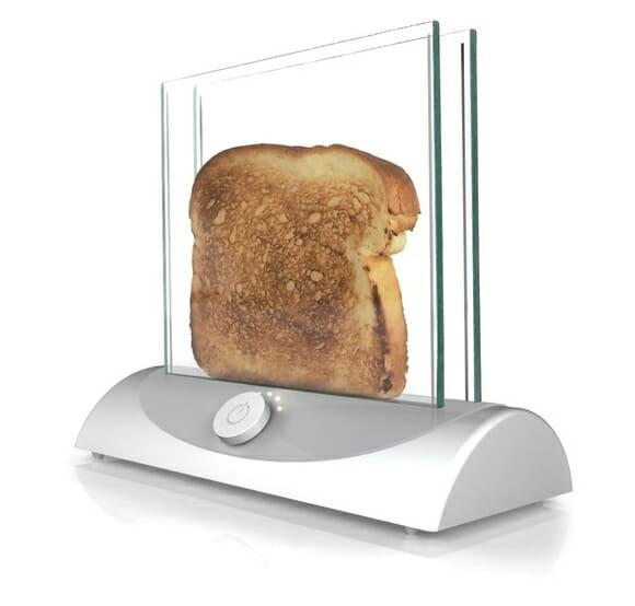 """Torradeira """"invisível"""" permite que você assista seu pão sendo tostado"""