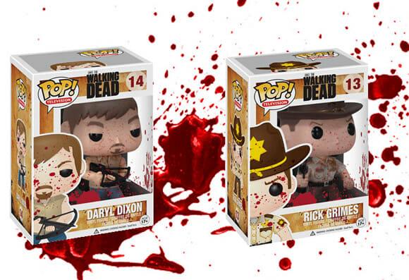 Coleção de action figures terrivelmente fofos de Walking Dead