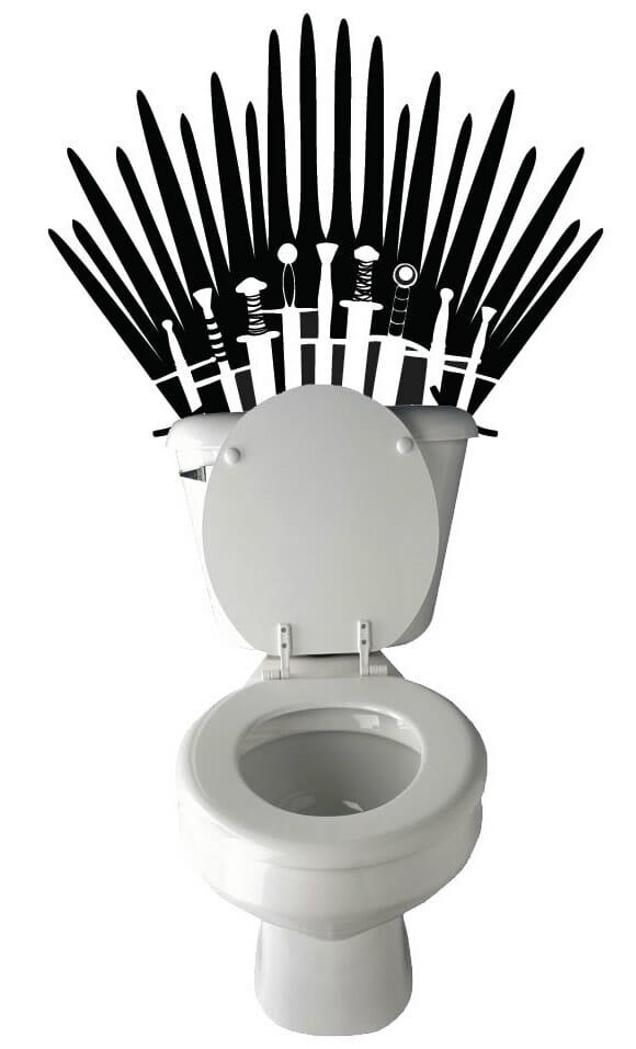 Adesivo de parede Game Of Thrones transforma seu vaso sanitário em um legítimo trono!