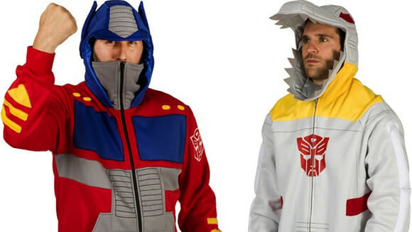Transforme-se com as blusas de frio de Optimus Prime e Grimlock!