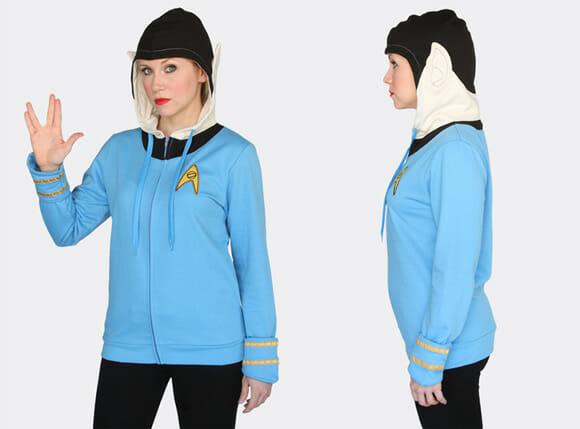 68a252d6a2 Blusa do Spock tem até orelhas pontudas no capuz