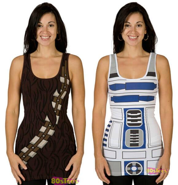 Moda geek - Blusinhas R2-D2 e Chewbacca