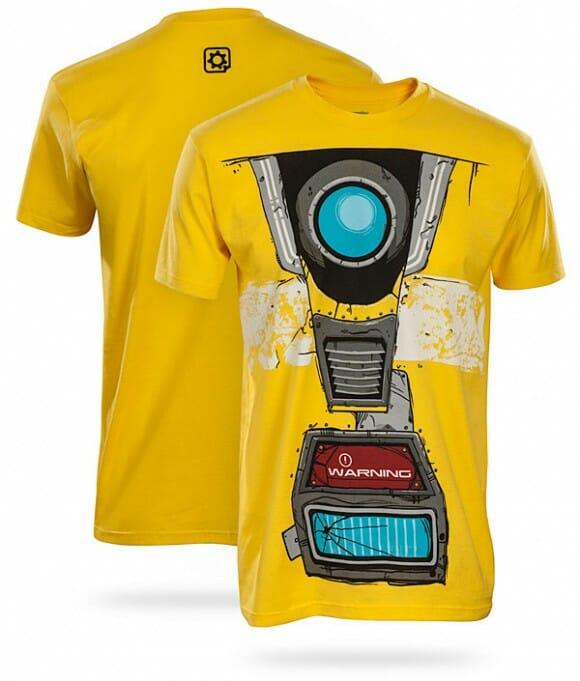 Moda geek: Camiseta Claptrap de Borderlands 2