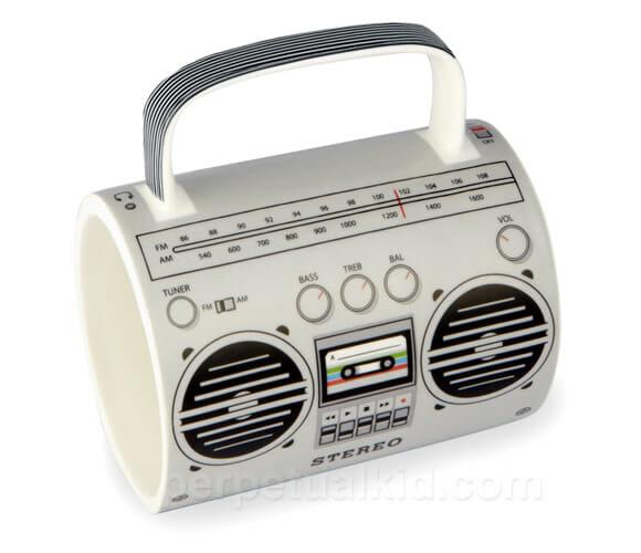 Caneca Boombox para apaixonados por música