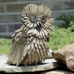 esculturas-papelao-reciclado-coruja