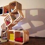 Estante criativa tem design modular flexível que pode ser reconfigurado